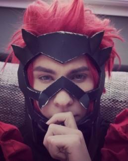 U wanna fight me? Red Riot in full battle gear ⚔️